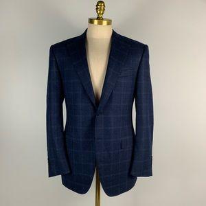 Canali Blazer *Recent - Blue Check Wool 50 IT 40R